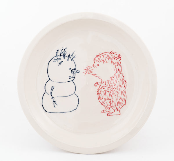 Snowman and Bear Plate (pd-321)