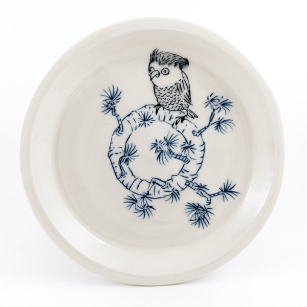 Owl on Branch Dinner Plate (pd-349)