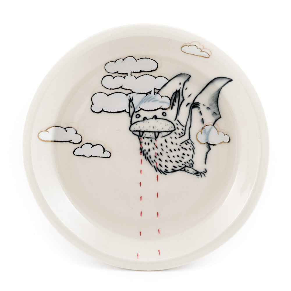 Bat with Clouds Dinner Plate (pd-353)