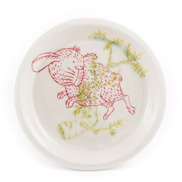 Rabbit and Branch Dinner Plate (pd-357)