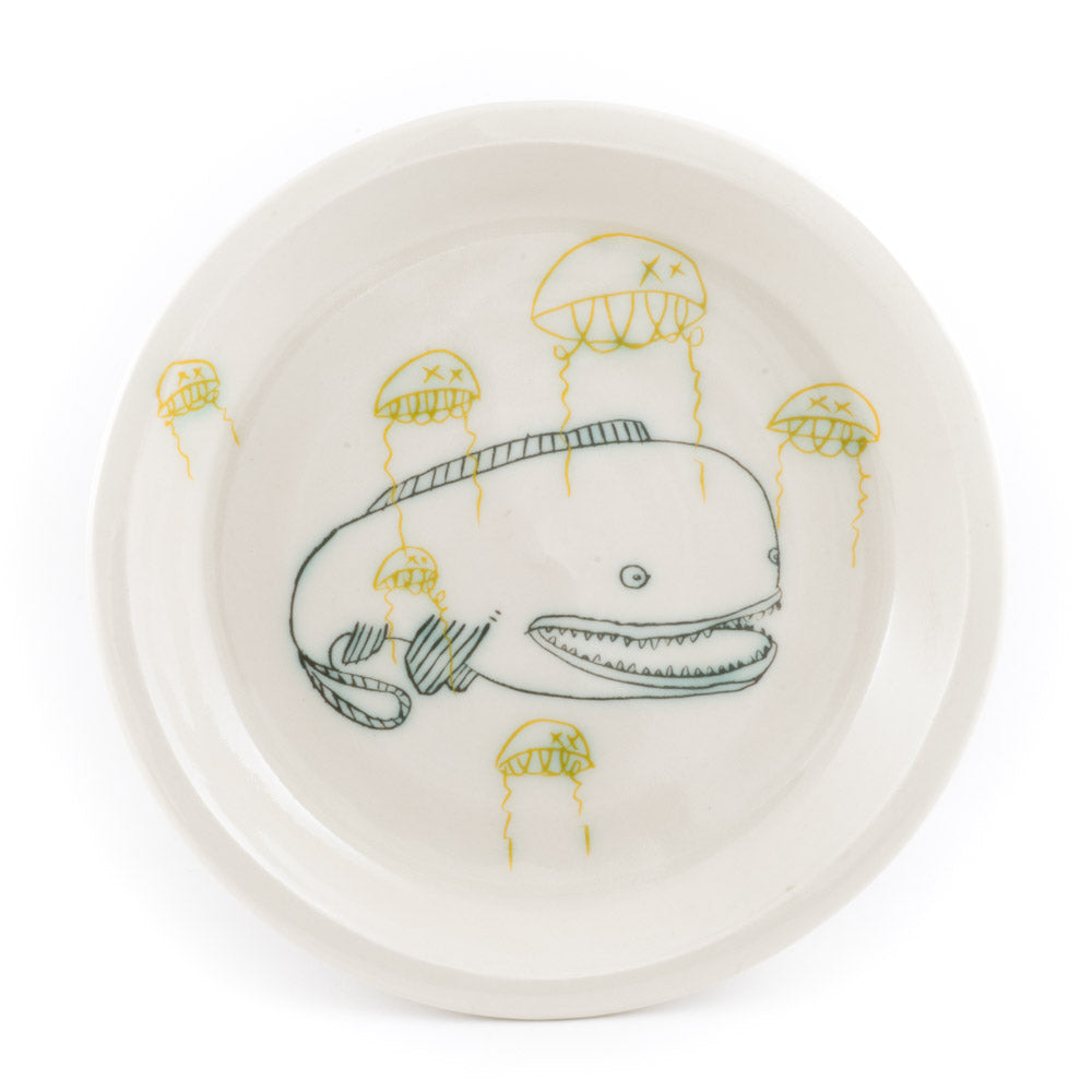 Catfish and Jellyfish Dinner Plate (pd-361)