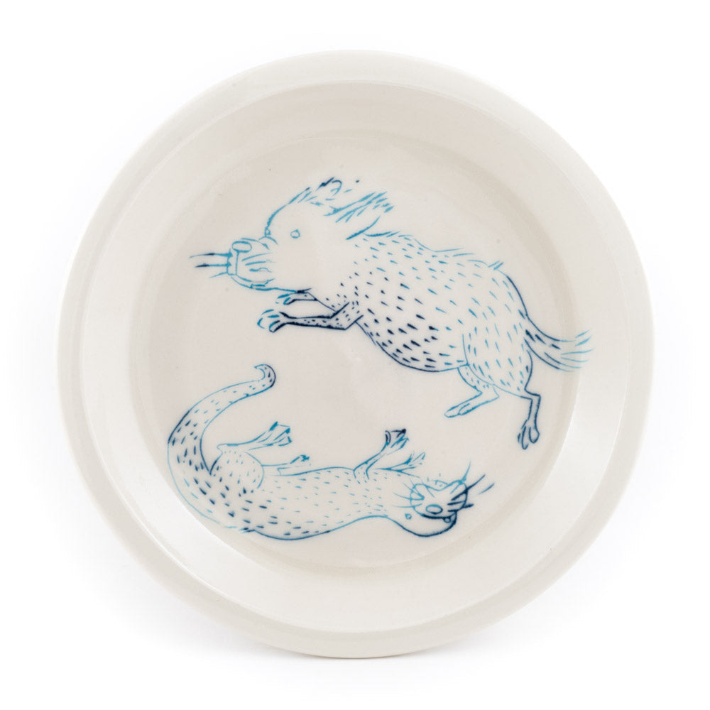 Dog and Otter Dinner Plate (pd-363)