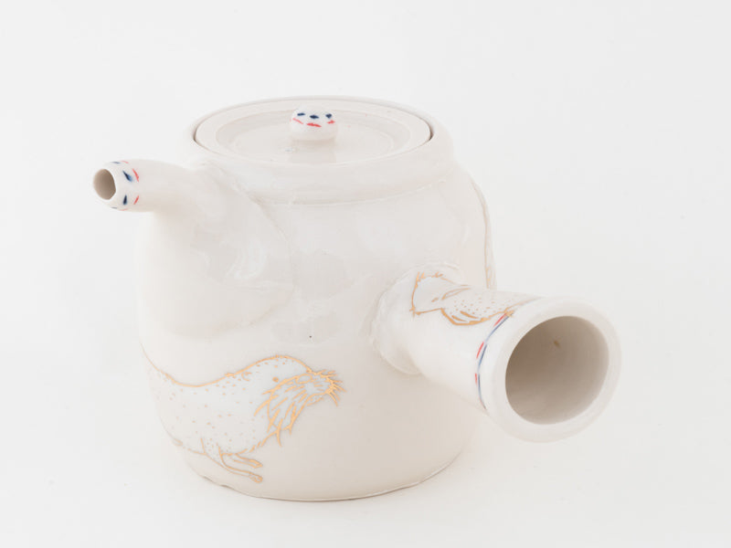 Rabbit Otter and Bird Side-handled Teapot (t-94)