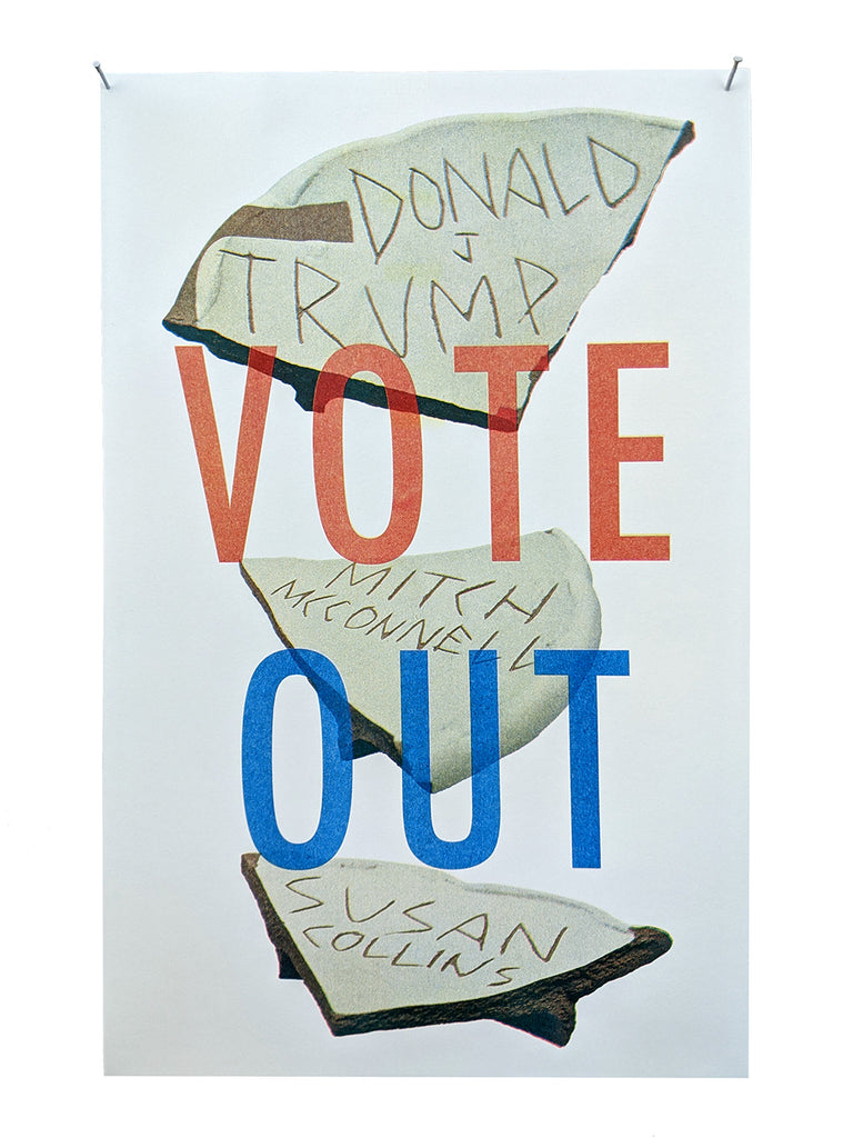 VOTE OUT Ostraka Print