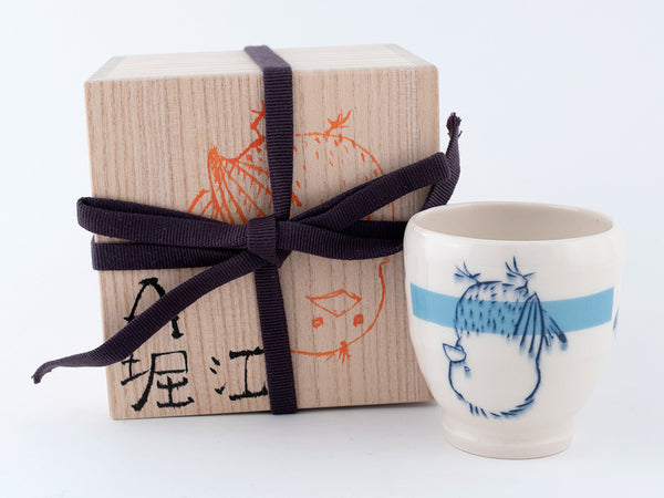 Upside Down Bird Yunomi Cup with Tomobako (y-36) 7 fl oz