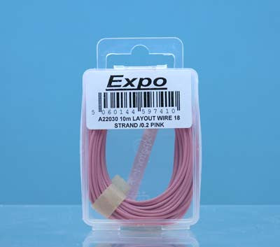 10 Metre Layout Wire - Pink