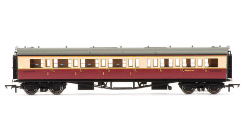 BR Collett Coach Corridor Composite LH, Crimson and Cream