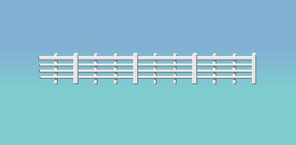 Wood Lineside Fencing (White)