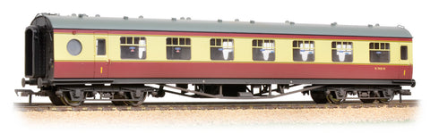 LMS 60 ft Porthole Open Vestibule BR Crimson & Cream - Weathered