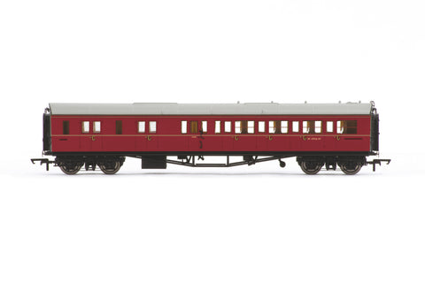 BR Collett Coach Corridor Brake Third Class LH, Maroon
