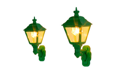Wall Mounted Gas lamp - 3 Pack Green