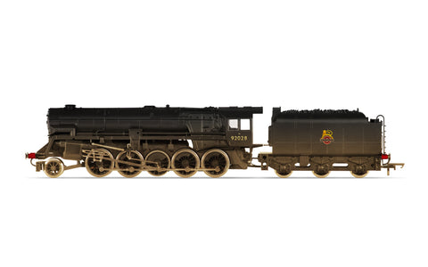 BR (Heavily Weathered), Crosti Boiler 9F Class, 2-10-0, 92028 - Era 4