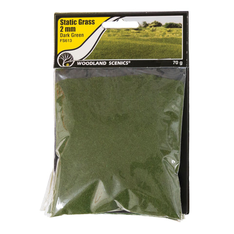Static Grass - 2mm Dark Green