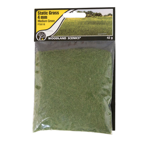 Static Grass - 4mm Medium Green