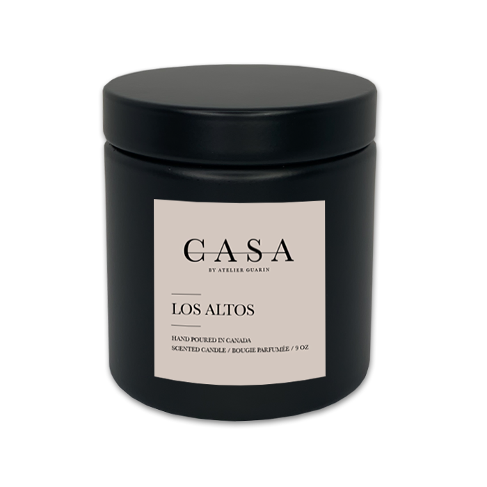 LOS ALTOS LUXURY SOY CANDLE - BLACK 9 oz