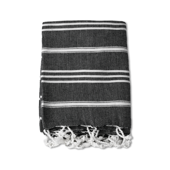 SANTA MONICA TURKISH TOWEL BLACK