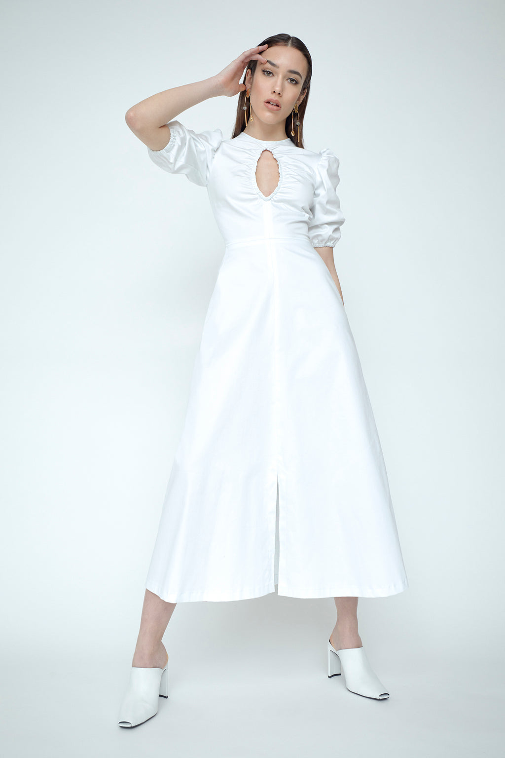 Siena Ruched Cotton Dress
