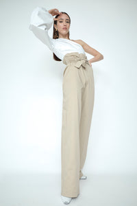 Lourdes Cotton Paperbag Trouser