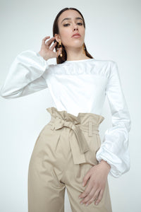 Emilia Cotton Ruched Blouse