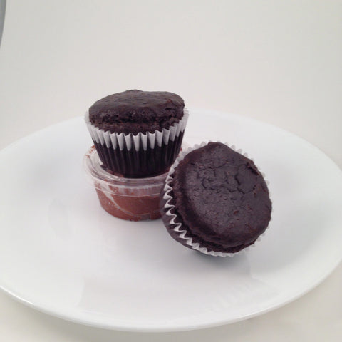 Chocolate Cupcakes (icing on side), 5 pack