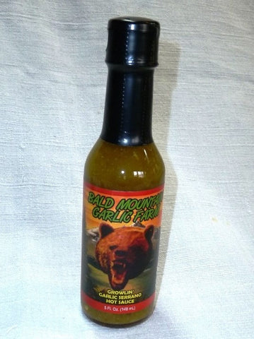 Growlin' - Garlic Serrano Hot Sauce