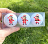 Your face on a golf ball - Santa Claus - set of 3