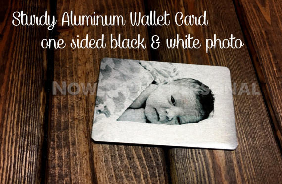 Personalized Wallet Insert, Wallet card, photo wallet insert card.