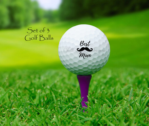 BEST MAN, Personalized Golf Balls