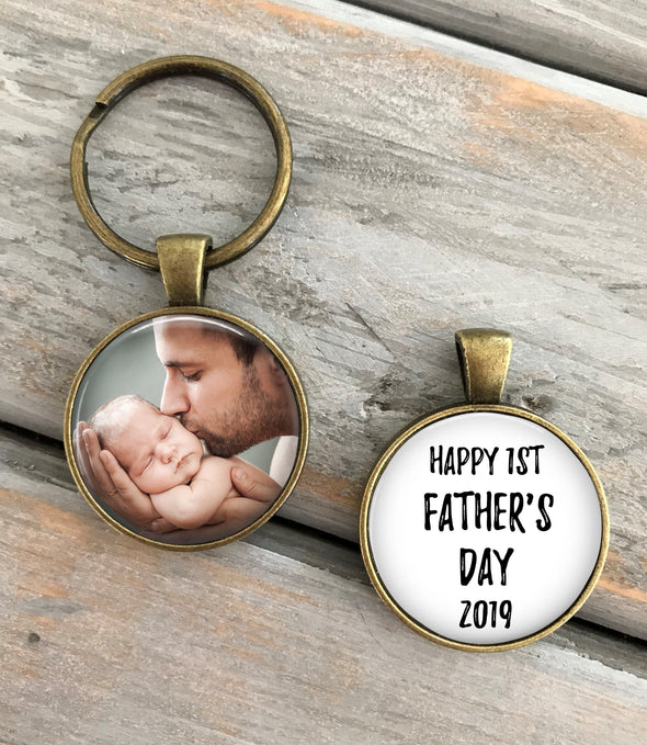 FIRST Father's Day, First Father's Day keychain