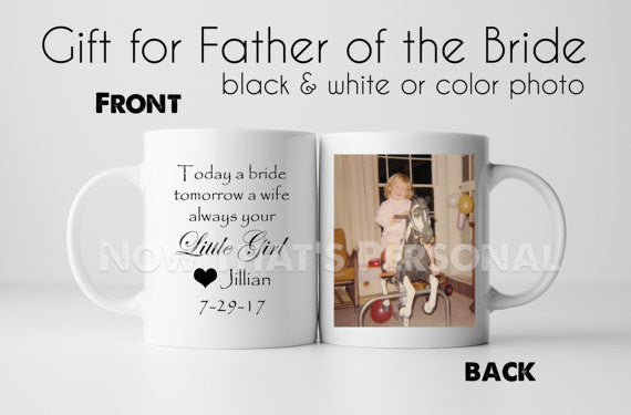 Personalized FATHER of the BRIDE coffee mug