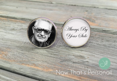 Memorial cuff links - always by your side - Custom Photo Cufflinks