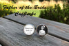 Father of the Bride Photo Cuff links - always your little girl