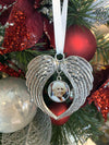 Angel Wings Ornament with photo charm