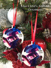 Aluminum Christmas ornament- Child's Artwork Christmas Ornament