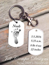 Baby Footprint key chain - Custom Dog Tag necklace - Jill Campa Designs - Now That's Personal!  - 1