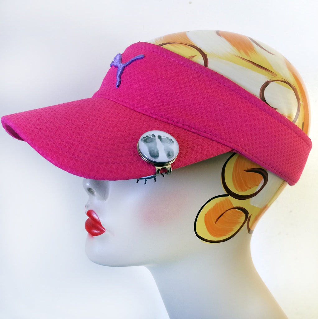 db638a3d2be SONOGRAM or Baby footprint Magnetic Golf Ball Marker   hat clip set - Jill  Campa Designs