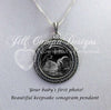 SONOGRAM Necklace, scroll design - Ultrasound Necklace - Jill Campa Designs - Now That's Personal!  - 2