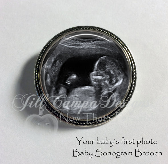 Baby Sonogram Brooch - Jill Campa Designs - Now That's Personal!