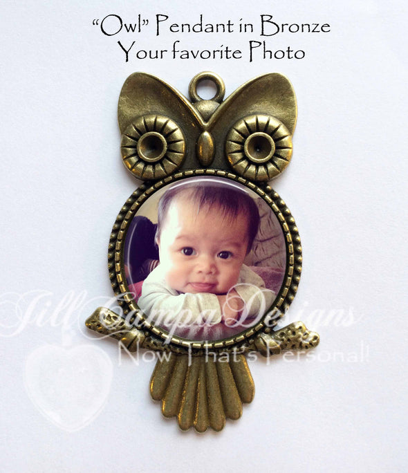 Baby SONOGRAM owl necklace - Jill Campa Designs - Now That's Personal!  - 3