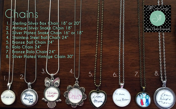 Your Child's Personalized Artwork Necklace