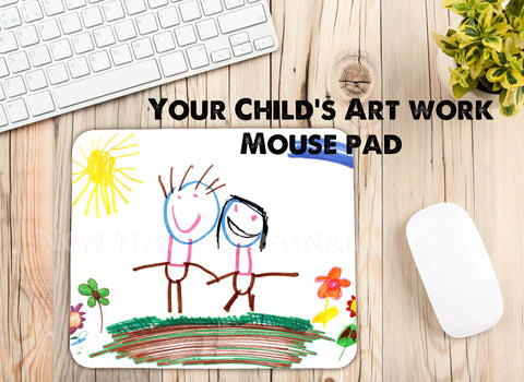 Child's Artwork mouse pad, your child's artwork, custom mouse pad