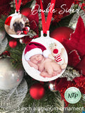 Aluminum Christmas ornament - Photo Christmas Ornament