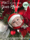 Aluminum Christmas ornament - Photo Christmas Ornament - 2 photos