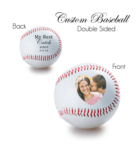 Personalized Baseball - double sided - Anniversary gift, Wedding gift