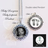 BABY FOOTPRINT NECKLACE - your Baby's actual footprints and photo - Jill Campa Designs - Now That's Personal!  - 2