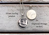 Sterling Silver 20 mm Photo Pendant with optional engraved message