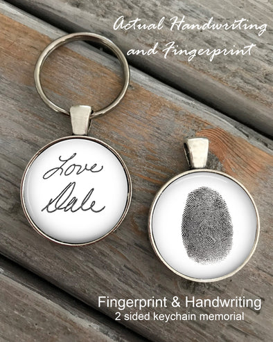 Fingerprint and Handwriting Key chain