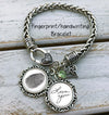 Fingerprint and Handwriting Bracelet