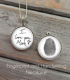 Fingerprint and Handwriting Necklace