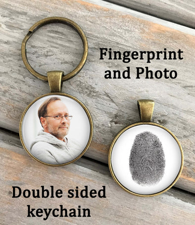 Fingerprint and Photo Key chain